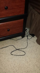 tangled cords