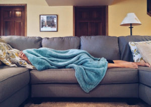 sick on couch